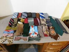 Lot Of 31 Vintage Ties 24 Neck Ties & 7 Bow Ties