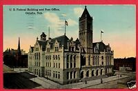 OMAHA NE FEDERAL BLDG POST OFFICE 1913   ELSIE GNAU  CROSS FORK PA  POSTCARD