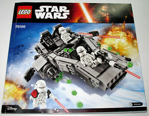 Lego Star Wars 75100 Instruction Manual Only - New