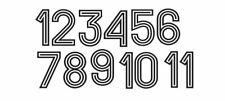 Retro 70's World Cup Flock Black Swirly Football Shirt Nameset Choose Ur Number
