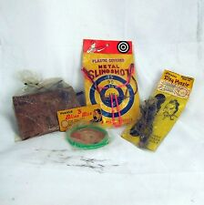 Lot(4) Vintage 1950's Chinese Rings 3 Blind Mice Sling Shot Puzzles Games Toys