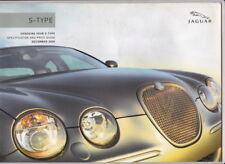 2006 JAGUAR S-TYPE 16p Specs & Prices Australian Brochure 3.0 V6 4.2 V8 SPORT