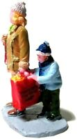 Lemax Village Scene Figures Toy Shopping Mother Son Looking into Bag