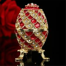 Red Crystal Adorned Faberge inspired Egg