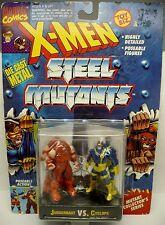 New 1994 Toy Biz Marvel X-Men Juggernaut Vs. Cyclops #49207 Die Cast Figures