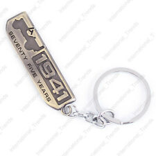 Vintage 1941 Seventy Five Years Emblem Fob Key Chain Ring for Cherokee Willys