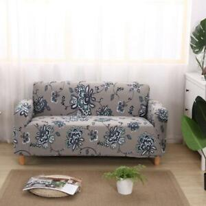 1/2/3/4 Seater Floral Elastic Soft Sofa Couch Cover Stretch Slipcover Protector