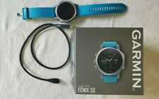 Garmin fenix 5s Silver with 2 Turquoise Bands Multisport GPS Watch 010-01685-01