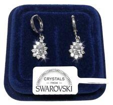 SW/G03 Goccia Piccola Orecchini pl.oro Bianco 18K con Cristalli Swarovski Donna