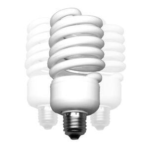 walimex Spiral-Tageslichtlampe 50W, 3er Set, Sockel: E27, 5400K, CRI 85