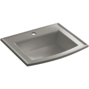 """Kohler K-2356-1-K4 Archer 22-5/8"""" 1 Hole Drop In Bathroom Sink, Cashmere"""
