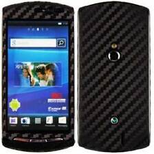 Skinomi Carbon Fiber Black Cover+Screen Protector for Sony Ericsson Xperia Neo V