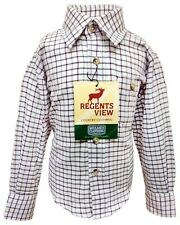 Regents View Childrens long sleeve Tattersall Check Shirt. kids, boys and girls