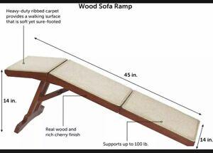 PetSafe CozyUp Sofa Ramp Durable Wooden Pet Ramp Holds up to 100 lb