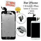 For iPhone 6 6S 7 8 Plus LCD Dispaly Touch Screen Digitizer Replacement + Button
