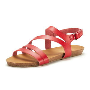 Womens Bold Slingback Flat Sandals Clearance Gladiator Summer Shoes Size 5-11