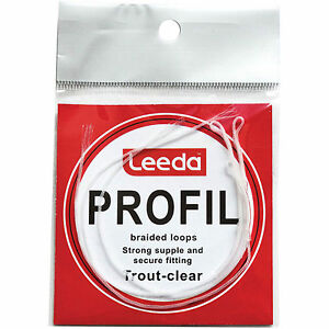 Leeda Profil braided Loops - Choice of 3 types, Salmon, Trout Clear &Trout Fluor