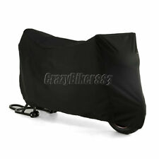 L Black Waterproof Motorcycle Cover For Yamaha YZF R1 R6 R6S Ninja ZX 6R 7R 9R