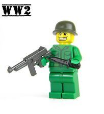 US Army WW2 minifigure Soldier made with real LEGO® Thompson SMG