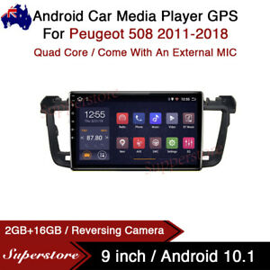 """9"""" Android 10.1 Car Stereo Media Player GPS Head Unit For Peugeot 508 2011-2018"""