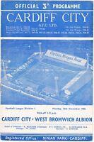 Cardiff City v West Bromwich Albion 1960/1 (26 Dec)