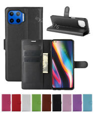 Leather slot wallet stand flip Cover Skin Case For Motorola MOTO One 5G
