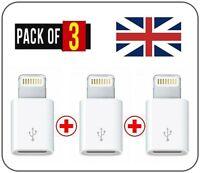 Para IPAD Y IPHONE 6 7 8 X XR XS Max Plus Cargar Relámpago a Micro Adaptador USB