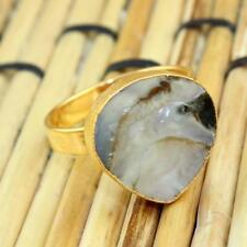 H3187 Winter Sale Natural Abalone Shell Gold Plated Adjustable Ring Jewelry
