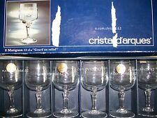 Cristal d'arques coffret de 6 verres a vin blanc ou a porto modele Matignon