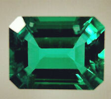 3.12ct VS Natural Colombia Emerald 8x10mm Emerald Shape Excellent Loose Gemstone