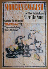 MODERN ENGLISH After The Snow 1982 US 4AD Promo POSTER New Wave TMC Post PUNK