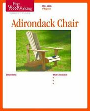 Fine Woodworking's Adirondack Chair Plan