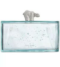 Kate Spade Caution To The Win Polar Bear Clutch NWT Rare