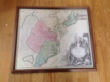 1732 Virginia Maryland North Carolina NJ PA Color  map By J B  Homann  Framed