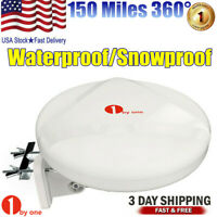 360° Reception Omni-directional Amplified Indoor/Outdoor HDTV Antenna VHF UHF