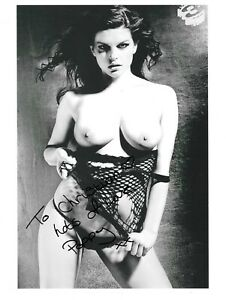 SEXY POPPY RIVERS SIGNED PAGE 3 TOPLESS NUDE GLAMOUR MODEL 10x8 GLOSSY PHOTO4