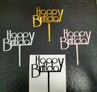 Happy Birthday Cake Topper Decoration - Acrylic - Good Quality