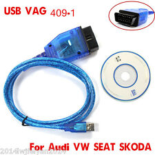 1x New VAG COM KKL 409.1 OBD2 Scanner K-Line KWP2000 USB Cable FOR VW/AUDI/SEAT