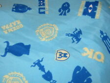 DISNEY CRIB SHEET/FITTED/BLUE MULTI COLOR MONSTER PRINT/POLYESTER MICROFIBER