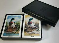 KEM plastic playing cards Mallard Ducks USA made Vintage 1983 pinochle 2 decks