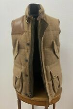 Amazing - Polo Ralph Lauren - Tweed Hunting Vest - SAMPLE - w/ Tag - Leather