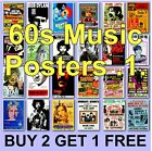 Poster Classic Music Posters 1960s 60s Music Poster Music HD Borderless 60s 1