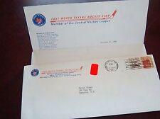 Fort Worth Texans Hockey Club envelope post mark 1981 Fan mail order
