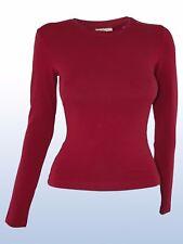 calvin klein ck maglia donna rosso bordeaux taglia xs extra small girocollo