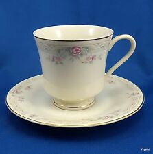 United Surgical Steel China Gold Ivory Lace Tea Cup and Saucer Set