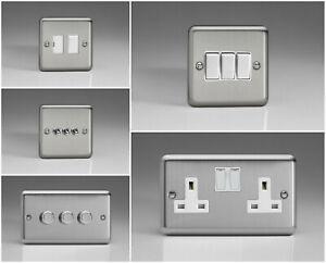 Varilight Classic Matt Chrome Range - White Inserts & White Plastic Switches