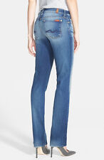 NWT 7 FOR ALL MANKIND Kimmie Contour Straight Leg Jeans SZ 27 Super Grinded Blue