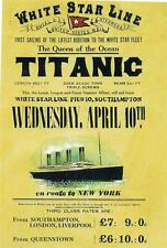 Old Print. Ad - 1st Sailing of Titanic - The White Star Line
