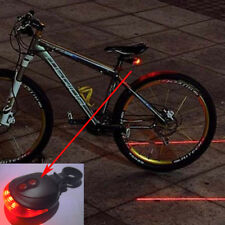 Laser Rear Bicycle LED Light 7 Function 5 Super Bright Tail Safety Visable Bike