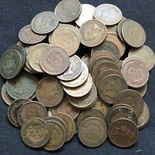 USA Lot 10x Indian Head Cent 1 Penny Münzen gemischt Sammlung 1865-1909